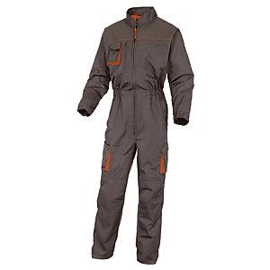 Combinaison de travail Mach2 en polycoton gris et orange DeltaPlus,  Taille M