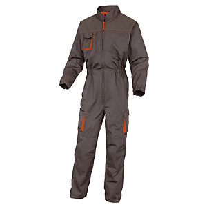 Combinaison de travail Mach2 en polycoton gris et orange DeltaPlus,  Taille L