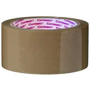 COMET Nastro adesivo da imballo in PPL, Srotolamento silenzioso, 50 mm x 66 m, Avana