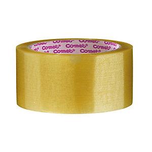 COMET Nastro adesivo da imballo in PPL, Srotolamento silenzioso, 50 mm x 66 m, Trasparente