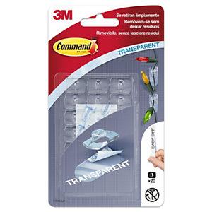 Command™ Clip Deco, 20 clip 24 mini strisce, Colore trasparente