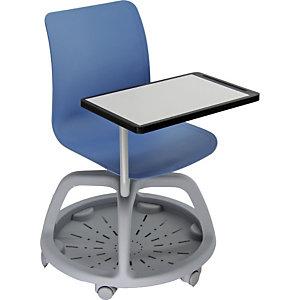 Conference Sedia con scrittoio e ruote, Polipropilene, Blu