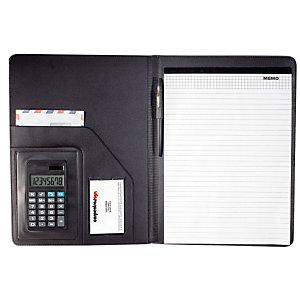 Conférencier avec bloc A4 Sign coloris noir et calculatrice