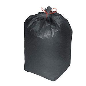 Confezione risparmio sacchi nettezza urbana - Colore nero - 110 litri - F.to cm 70 x 110 - Spessore 14 micron (confezione 300 pezzi)