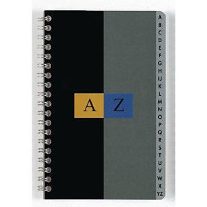 CONQUERANT SEPT Répertoire alphabétique 17 x 22 cm, Reliure intégrale, petits carreaux 5X5 (180 pages)