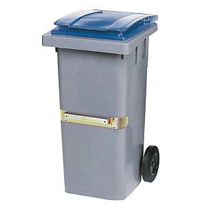 Container 2 wielen SULO met centrale handgreep 120 L grijs/ blauw