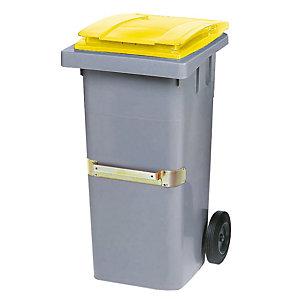 Container 2 wielen SULO met centrale handgreep 120 L grijs/ geel