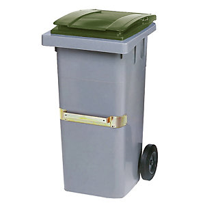Container 2 wielen SULO met centrale handgreep 120 L grijs/ groen