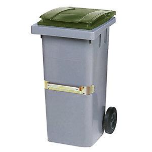 Container 2 wielen SULO met centrale handgreep 140 L grijs/ groen