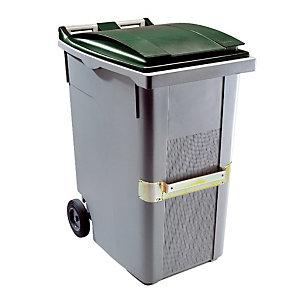 Container 2 wielen SULO met centrale handgreep 360 L grijs/ groen