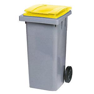 Container 2 wielen SULO voorgreep 120 L grijs/ geel