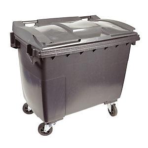 Container 4 wielen SULO voorgreep 660 L grijs/ grijs
