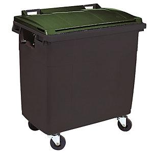 Container 4 wielen SULO voorgreep 660 L grijs/ groen