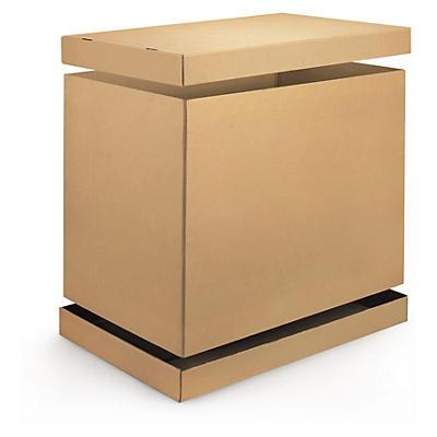 Container med separat låg og bund