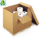 Container met tuimelklep en deksel
