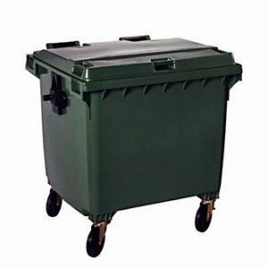 Conteneur 4 roues 770 Lvert avec couvercle vert