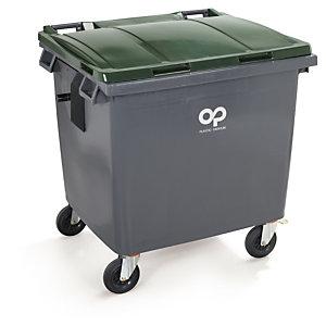 Conteneur ŕ déchets couleur 4 roues CITYBAC PLASTIC OMNIUM 770 L jaune