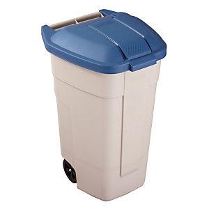 Conteneur d'intérieur 100 L Rubbermaid beige/ bleu