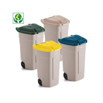 Conteneur mobile 100 litres##Mobiele afvalcontainer