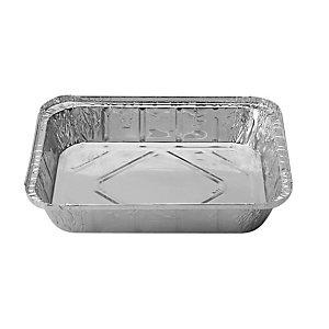 Contenitore in alluminio per alimenti con coperchio, Formato R12, 32,2 x 20,6 x 5,7 cm (confezione 50 pezzi)