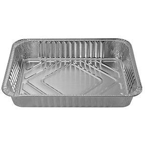 Contenitore in alluminio per alimenti, Formato R4, 22,5 x 17,5 x 3,6 cm (confezione 100 pezzi)