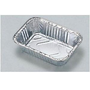 Contenitore in alluminio per alimenti, Formato R6, 16 x 11 x 3,7 cm (confezione 100 pezzi)