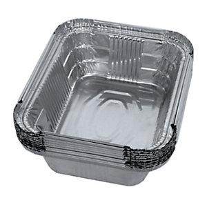 Contenitore in alluminio per alimenti, Formato R8, 15 x 12,3 x 4,8 cm (confezione 100 pezzi)