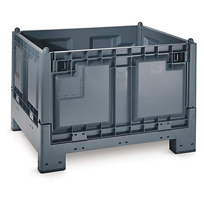 Contentor de plástico dobrável e empilhável