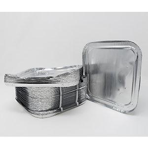 Coperchio in alluminio per vaschetta quadrata, Formato CR25G, 16 x 16 x 1,4 cm (confezione 100 pezzi)