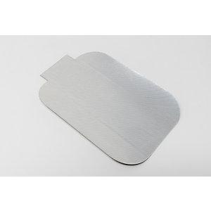 Coperchio in alluminio per vaschetta rettangolare, Formato 103 AP, 17,6 x 12,6 cm (confezione 5.000 pezzi)