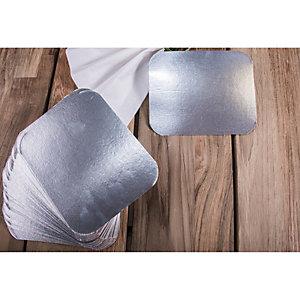 Coperchio in alluminio per vaschetta rettangolare, Formato CR28L/R23L, 11,4 x 14 cm (confezione 100 pezzi)