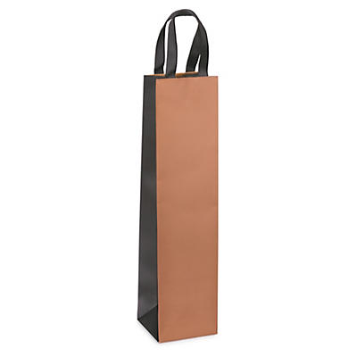 Copper and black Kraft bottle gift bags