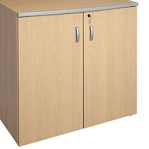 """Coppia ante in legno con serratura per armadio basso a giorno nostro codice 719934 """"Linea Avantis"""" - Acero"""
