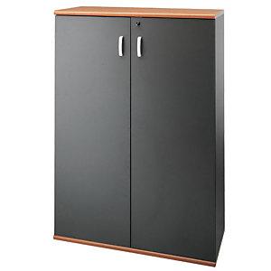 """Coppia ante in legno per armadio medio a giorno cod. 72.07.65 """"Linea Exclusive"""" - Antracite"""