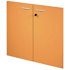 """Coppia ante per mobile basso a giorno """"Linea Pronto"""" - Colore arancione"""