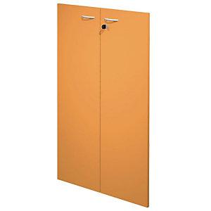 """Coppia ante per mobile medio a giorno """"Linea Pronto"""" - Colore arancione"""