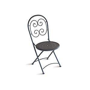 Coppia sedie pieghevoli da giardino ''Elba'', Ferro, Antracite