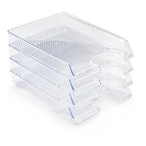 Corbeille à courrier cristal transparent LEITZ