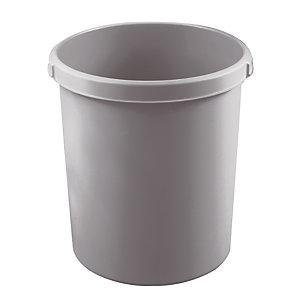 Corbeille cylindrique 30 L coloris gris