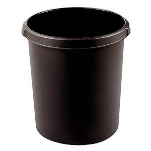 Corbeille cylindrique 30 L coloris noir