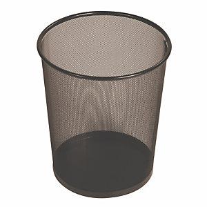Corbeille métal ajourée ronde noire 19 L