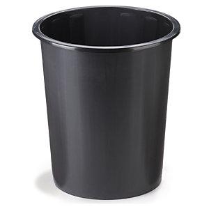Corbeille à papier en plastique noir 40 l