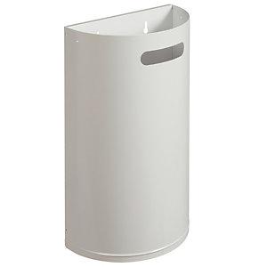 Corbeille sanitaire murale décrochable blanc 40 L Rossignol
