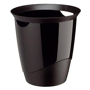 Corbeille Trend noire opaque 16 L