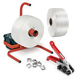 Corded polyester strapping systems