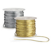 Cordón metalizado para regalo