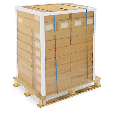 Cornière de protection en carton blanche recyclé