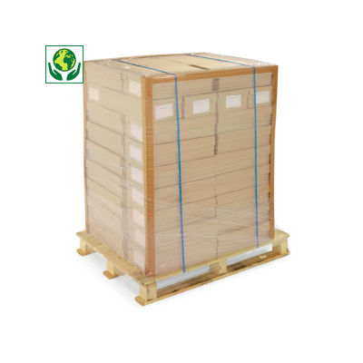 Cornière de protection en carton recyclé brun##Hoekprofiel in gerecycleerd karton