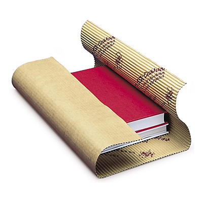 Corrugated cushion wrap book packaging in sheets