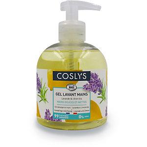 COSLYS Gel Lavamani, Lavanda & Limone bio, Flacone dosatore 300 ml
